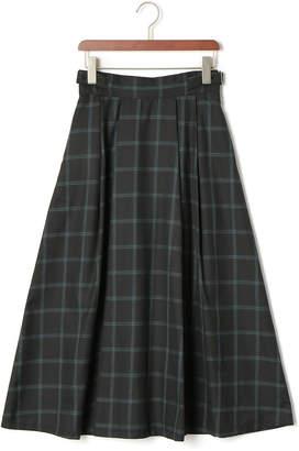 Doux Archives (ドゥ アルシーヴ) - Doux archives ウィンドペン チェック ロングタック スカート ブラック s