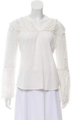 Love Sam Embroidered Long Sleeve Top