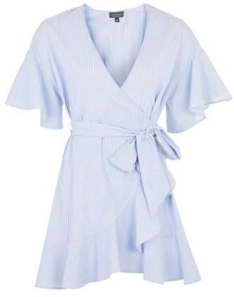 Women's Topshop Stripe Wrap Dress 3