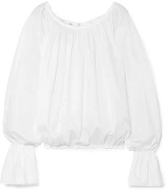 Vivienne Westwood - Bella Pinstriped Organic Cotton-poplin Top - White
