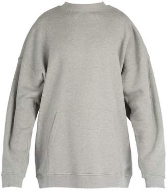 Y/Project Oversized Cotton Hooded Sweatshirt - Mens - Grey