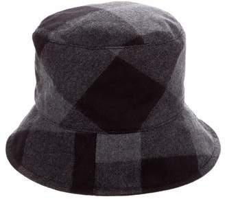 Maison Michel Matthew Checkered Hat