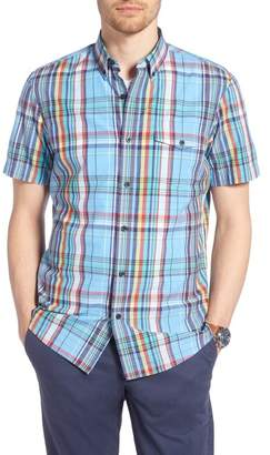 1901 Ivy Trim Fit Madras Plaid Sport Shirt
