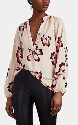 A.L.C. Women's Jules Floral Silk Crepe Blouse - Pink