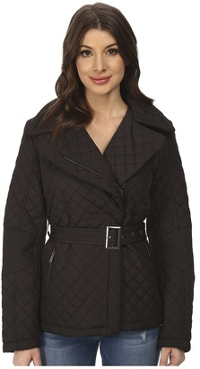 DKNY Short Belted Quilt Coat $113 thestylecure.com