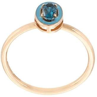 Alison Lou 14kt yellow gold blue topaz ring