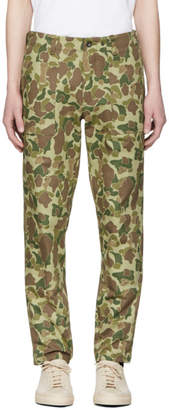 Rag & Bone Green Camo Field Trousers