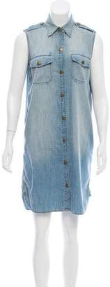 Current/Elliott Sleeveless Chambray Dress