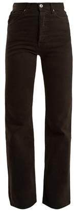 Eve Denim - Juliette High Rise Straight Leg Jeans - Womens - Black