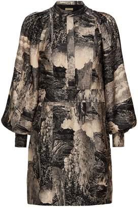 Burberry Landscape Silk Dress