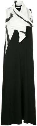 CHRISTOPHER ESBER draped neck long dress