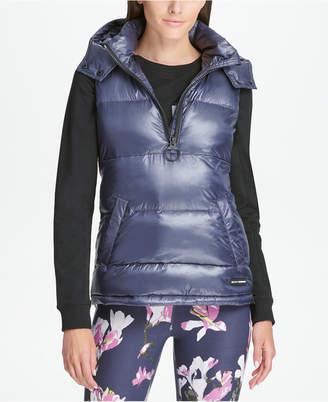 DKNY Sport Quarter-Zip Hooded Vest