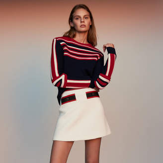 Maje Sweater in novelty tricolor knit