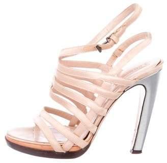 Reed Krakoff Satin Multistrap Sandals