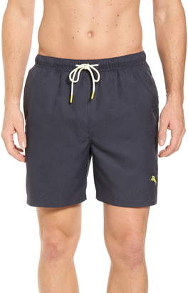 Tommy Bahama Naples Midnight Monstera Swim Trunks