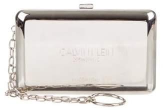 Calvin Klein Mini Engraved Metal Box Clutch Metallic Mini Engraved Metal Box Clutch