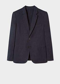 Paul Smith Men's Tailored-Fit Dark Navy Unlined Cotton Blazer