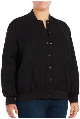 Vince Camuto Women's Bomber Jacket - Black, Size 3x (22-24)