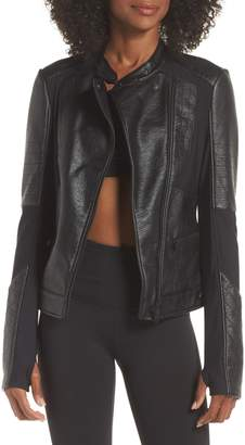 Blanc Noir Ryder Faux Leather Moto Jacket
