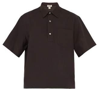 Phipps - Short Sleeved Cotton Shirt - Mens - Dark Brown