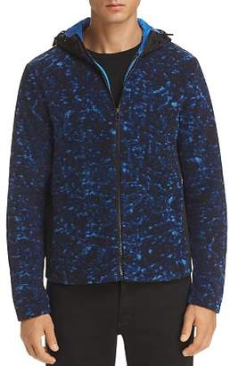 Michael Kors Mixed-Media Fleece Hooded Jacket