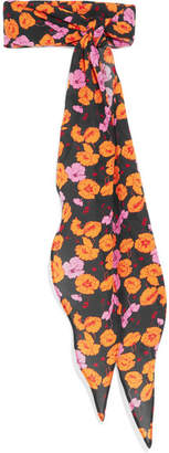 Magda Butrym Hubei Floral-print Silk-crepe Scarf - Orange