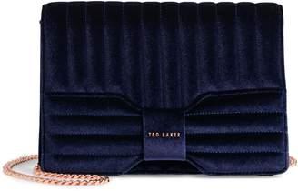 Ted Baker Quilted Velvet Bow Crossbody Bag