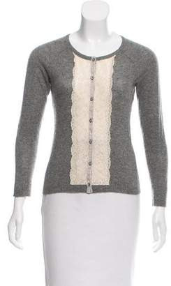 Rebecca Taylor Cashmere Button-Up Cardigan