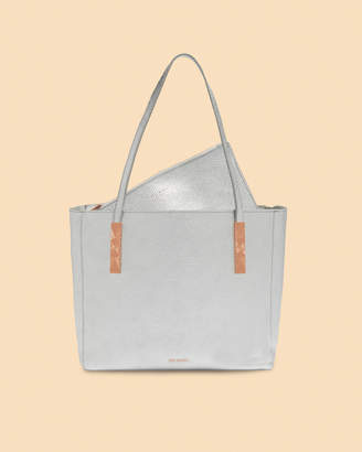 Ted Baker PAIGIE Large zipped leather tote bag