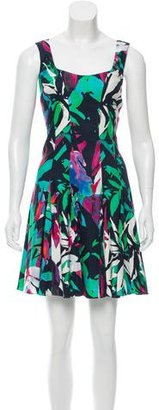 Nicole Miller Printed A-Line Dress w/ Tags $90 thestylecure.com