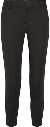 DKNY - Stretch-twill Tapered Pants - Black $300 thestylecure.com
