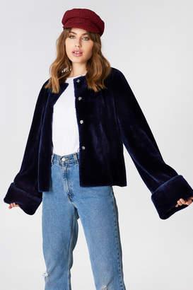 NA-KD Na Kd Wide Cuff Faux Fur Jacket