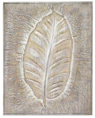 Foreside Home & Garden Embossed Leaf Wood Wall Art
