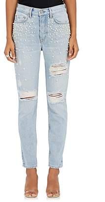GRLFRND Women's Karolina Embellished Distressed Skinny Jeans