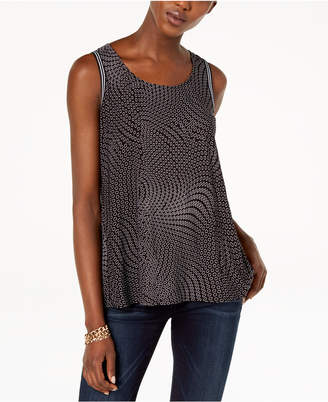 INC International Concepts I.N.C. Mixed-Print Split-Back Top, Created for Macy's