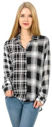 Cubism Plaid Snap-Up Shirt