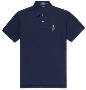 Polo Ralph Lauren Embroidered Cotton-Piqué Polo Shirt