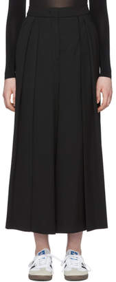 McQ Black Japanese Pleat Trousers