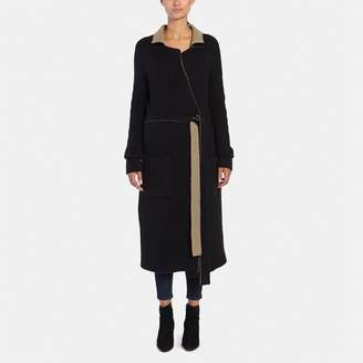 ATM Anthony Thomas Melillo Reversible Felt Wrap Coat