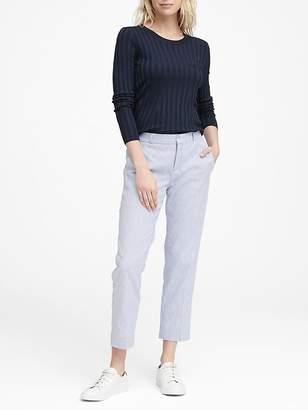 Banana Republic Petite Avery Straight-Fit Linen-Cotton Pant