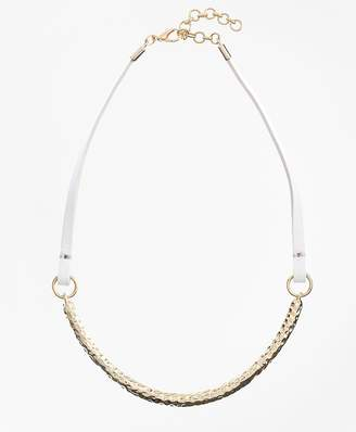 Leather and Hammered Gold Choker $148 thestylecure.com