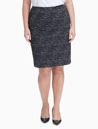 Calvin Klein plus size ponte knit pencil skirt