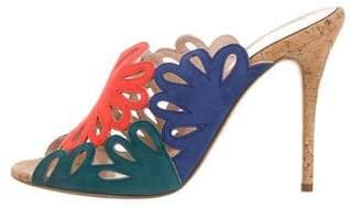 Oscar de la Renta Jelia Laser Cut Sandals