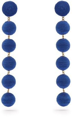REBECCA DE RAVENEL Corded-silk drop earrings $317 thestylecure.com