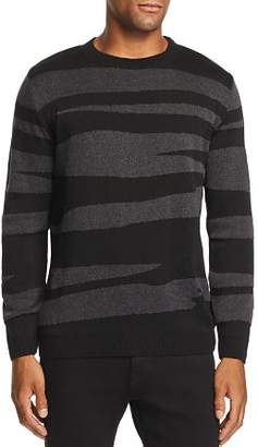 Vestige Textured Abstract Striped Sweater