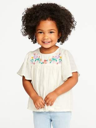 Old Navy Floral-Embroidered Bell-Sleeve Blouse for Toddler Girls