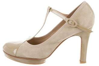 Repetto Suede Mary-Jane Pumps