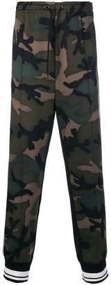 Valentino camouflage track pants