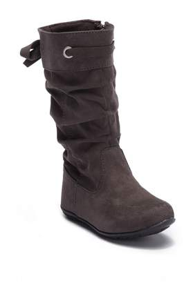 Harper Canyon Scrunch Faux Suede Boot (Toddler)