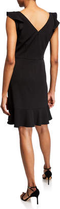 Nanette Lepore Nanette Asymmetric Ruffle Flutter Sheath Dress